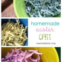 Homemade Easter grass