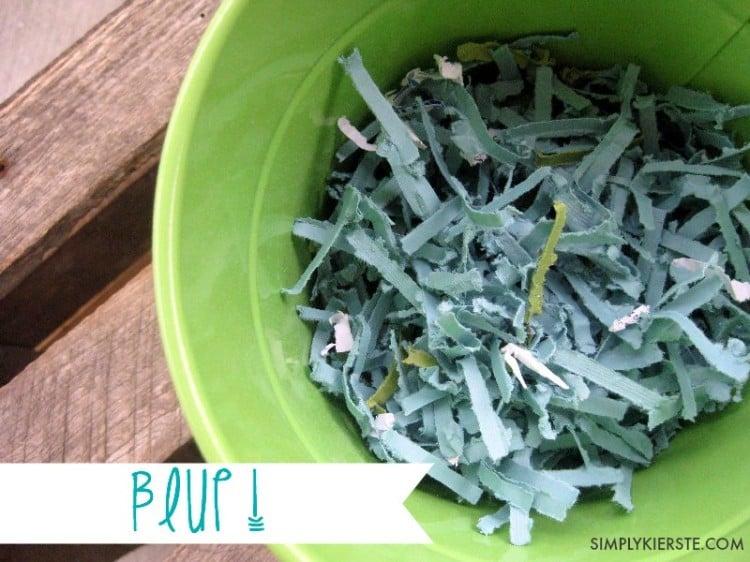 homemade easter grass blue | oldsaltfarm.com
