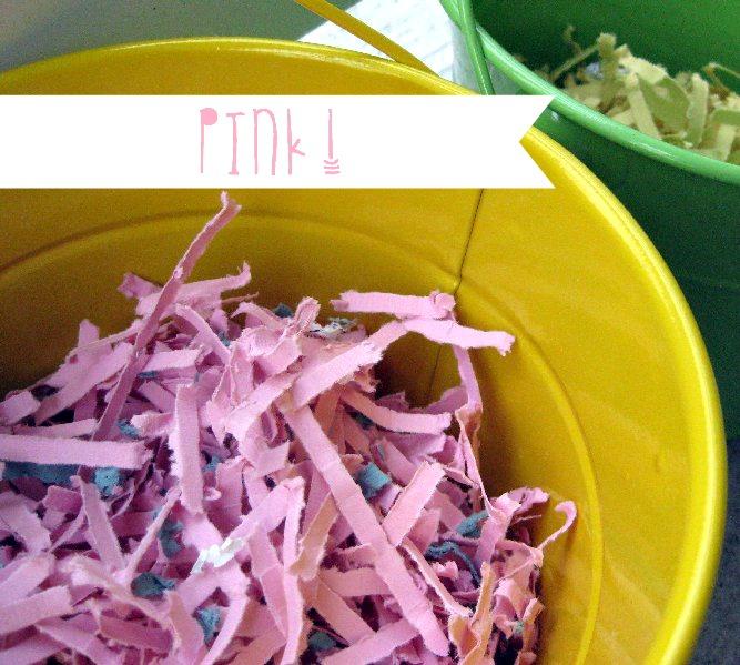 homemade easter grass pink | simplykierste.com