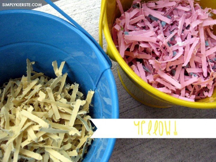 homemade easter grass yellow | oldsaltfarm.com
