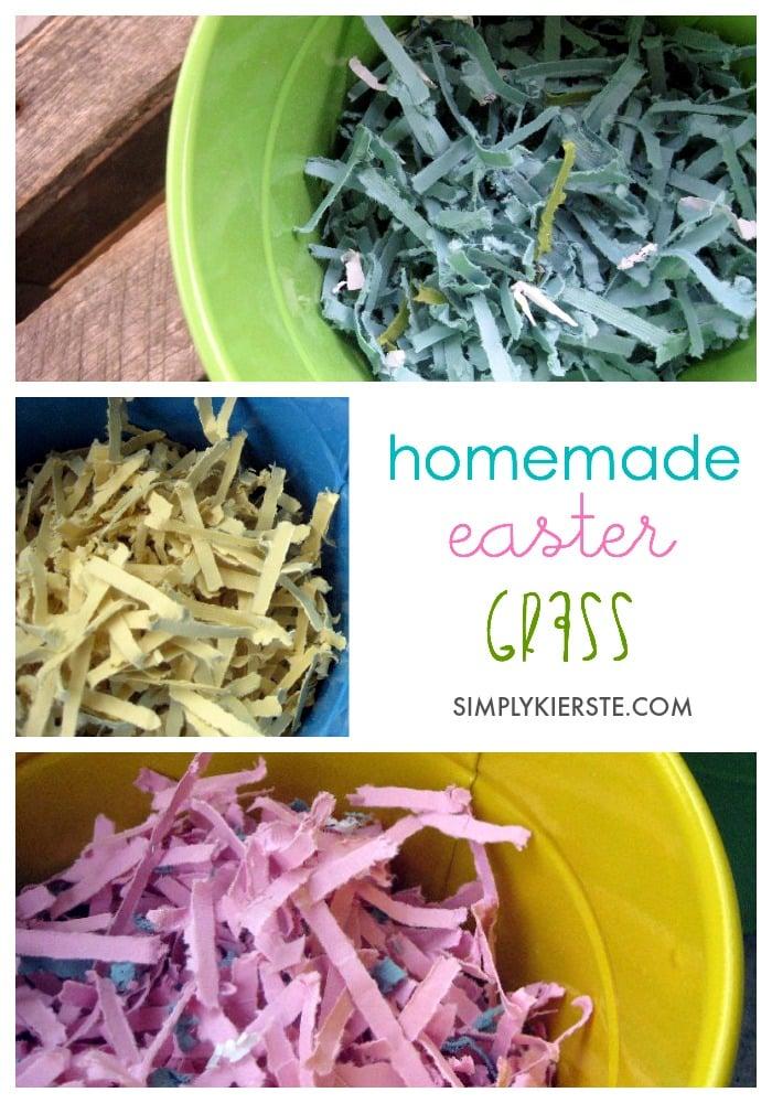 homemade easter grass | oldsaltfarm.com