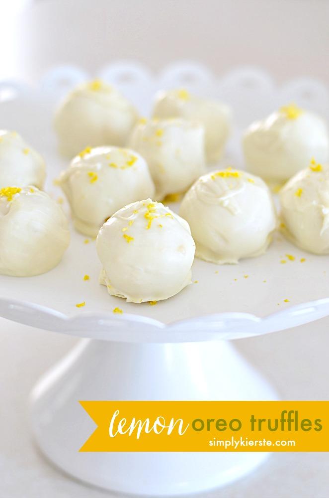 Lemon Oreo Truffles | simplykierste.com