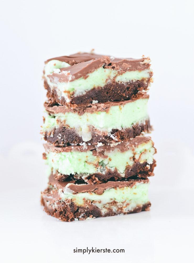 The Best Mint Chocolate Brownies   simply kierste.com
