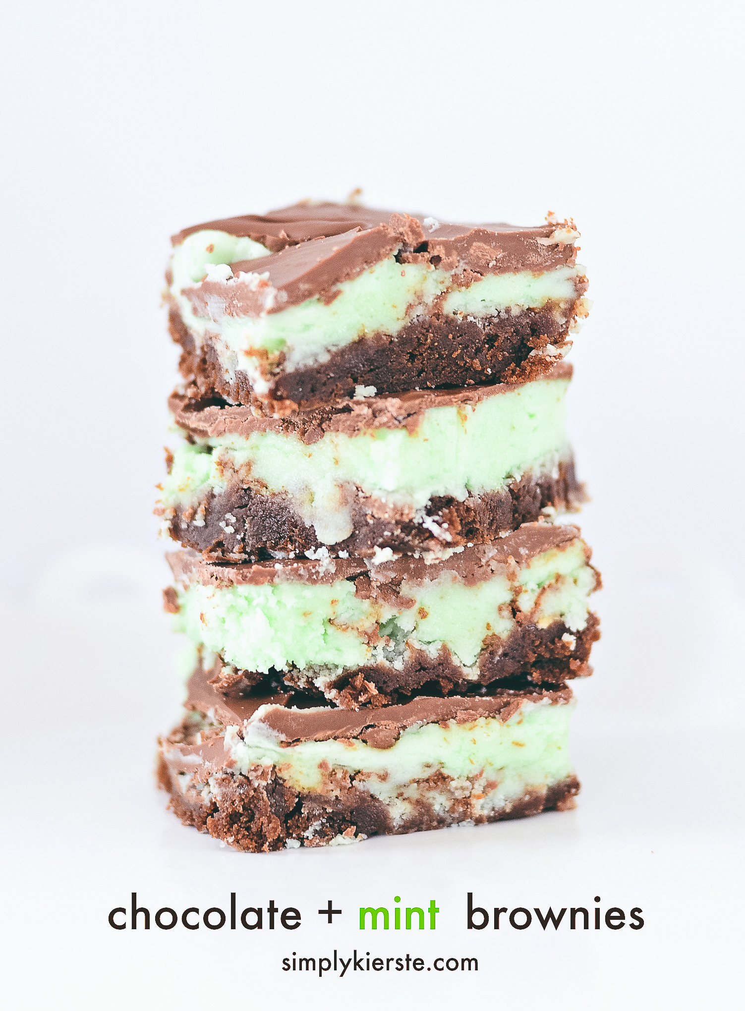 The BEST Mint Chocolate Brownies