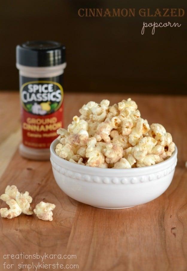 Cinnamon Glazed Popcorn | simplykierste.com