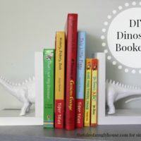 DIY Dinosaur Bookends
