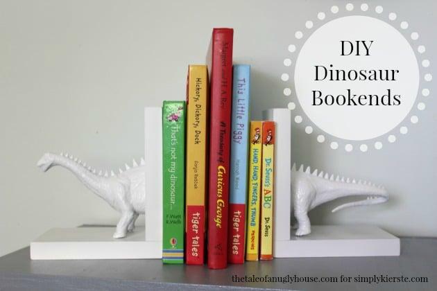 DIY Dinosaur Bookends