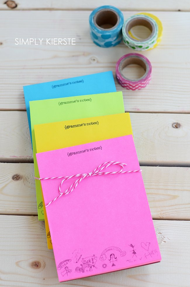 DIY personalized notepaper | Perfect for Mother's Day, teacher gifts, and more! |simplykierste.com