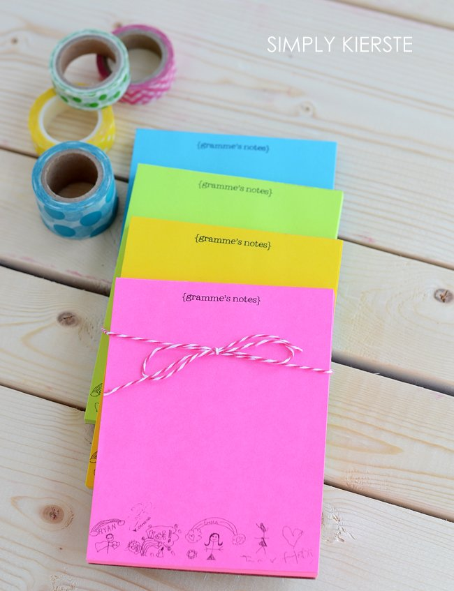 DIY personalized notepaper | Perfect for Mother's Day, teacher gifts, and more! |oldsaltfarm.com