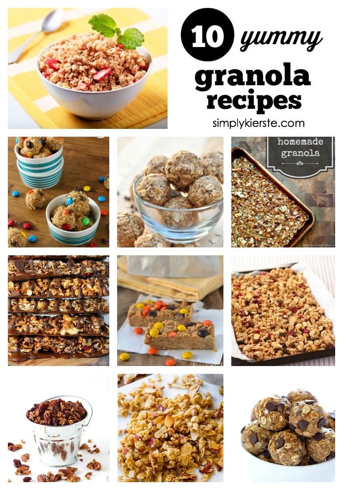 10 yummy granola recipes | simplykierste.com