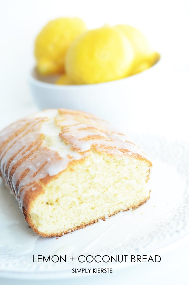The yummiest lemon coconut bread