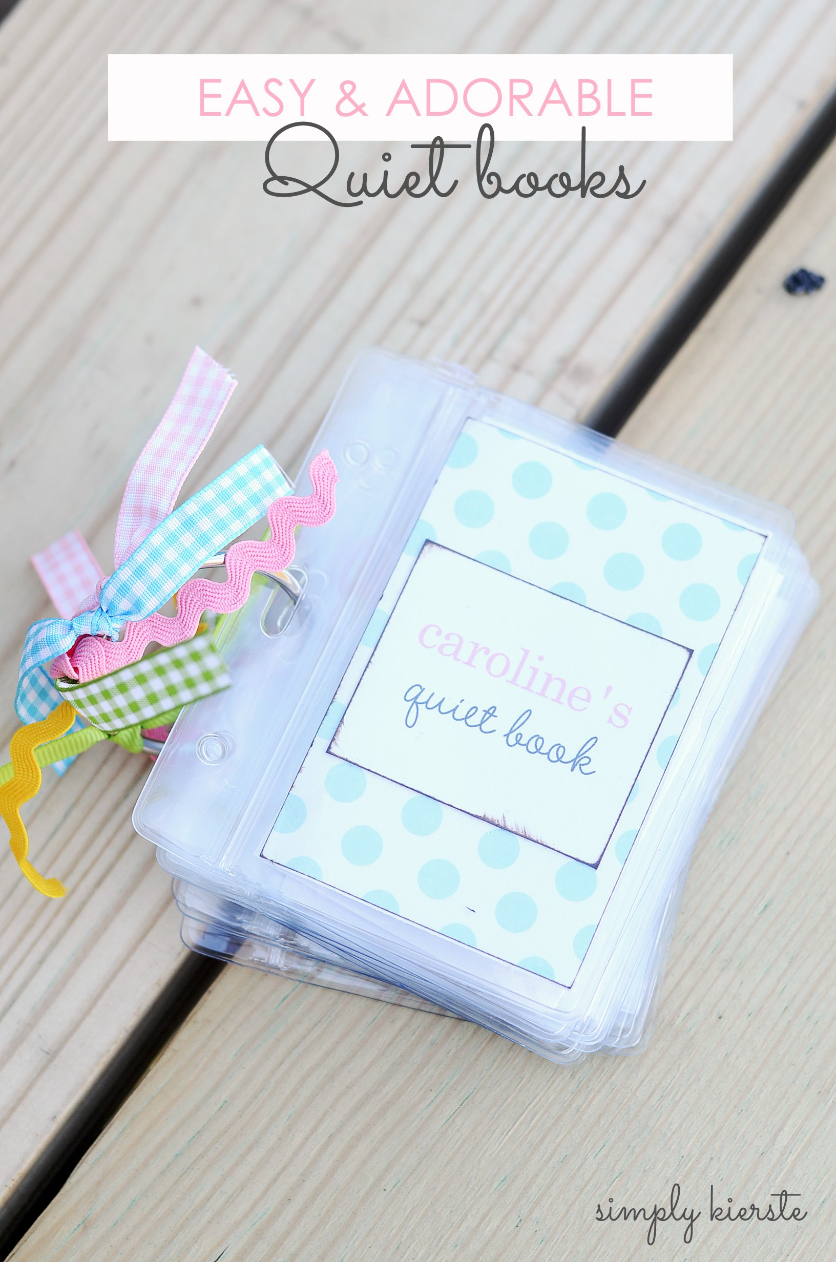 How to make an easy & adorable quiet book