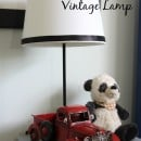 Pottery Barn inspired vintage lamp tutorial | simplykierste.com
