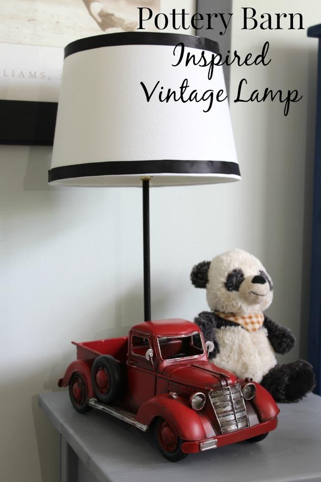 Pottery Barn inspired vintage lamp