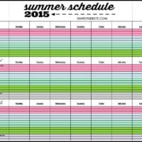 Make your summer easier with a printable summer schedule & calendar 2015