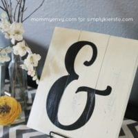 DIY ampersand sign tutorial