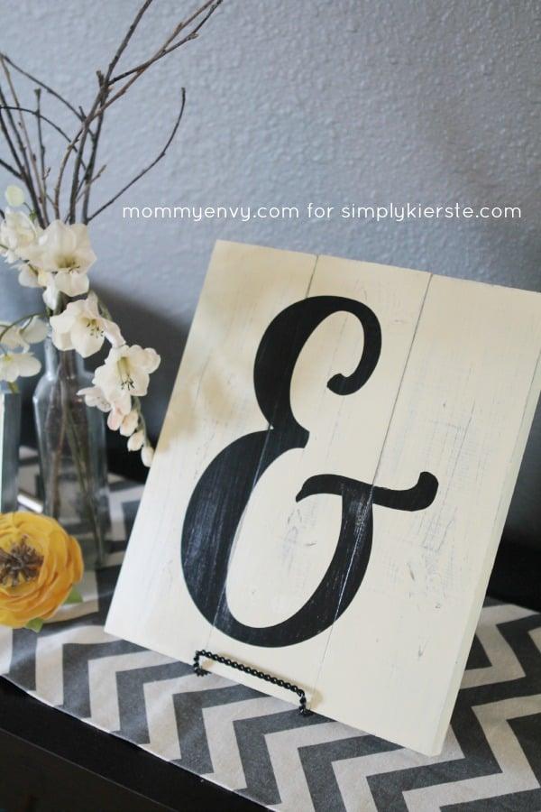 DIY ampersand sign tutorial