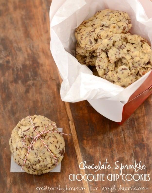 Chocolate Sprinkle Chocolate Chip Cookies