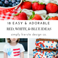 Easy & Adorable Red, White & Blue Ideas | 4th of July