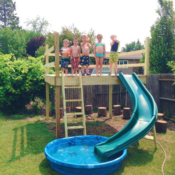 DIY Kids' Play Platform | oldsaltfarm.com