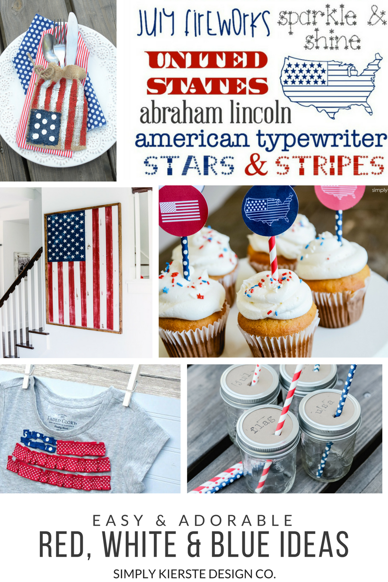 Red, White & Blue Ideas | 4th of July | simply kierste.com