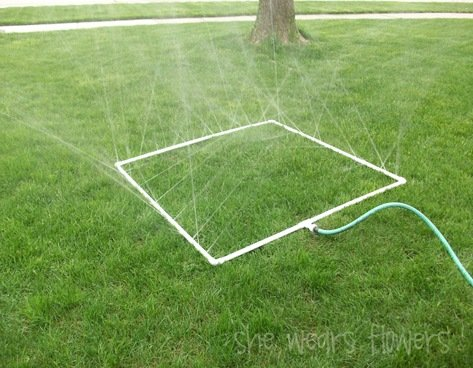 Homemade Play Sprinkler | oldsaltfarm.com