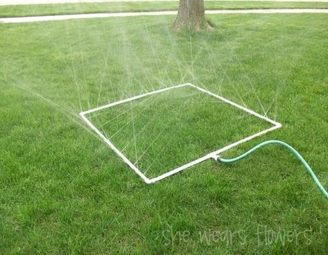 Homemade Play Sprinkler | simplykierste.com