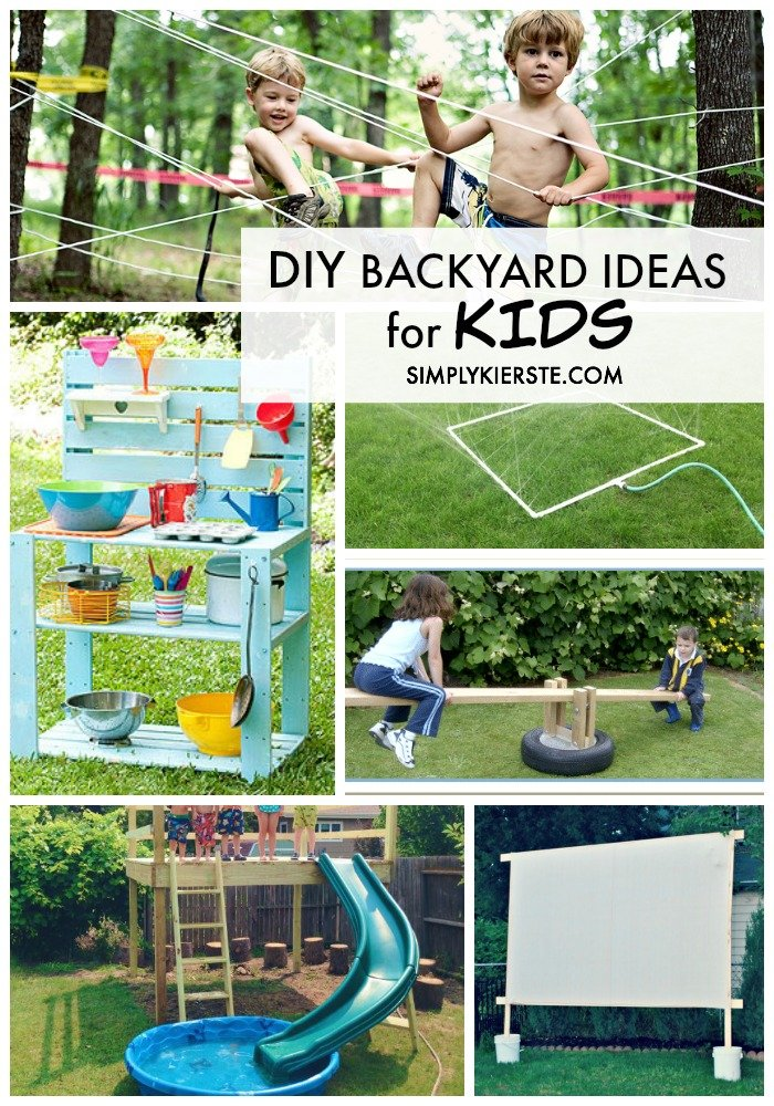 Awesome DIY Backyard ideas for Kids | oldsaltfarm.com