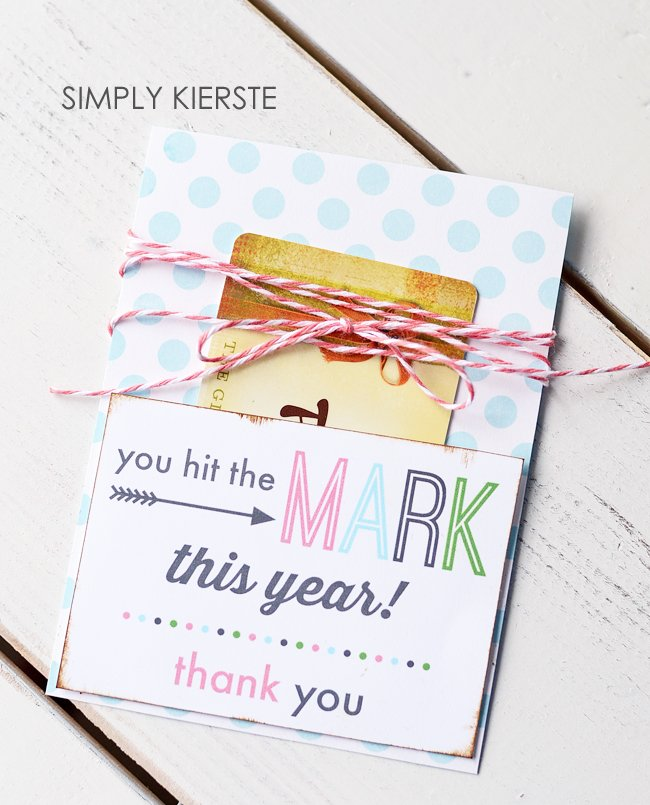 Teacher Gift Card Holder | FREE printable | simplykierste.com