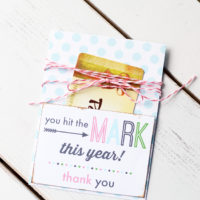 Easy & adorable teacher gift card holder
