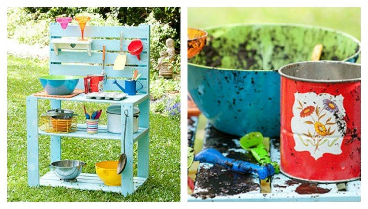 Outdoor Mud Kitchen | oldsaltfarm.com
