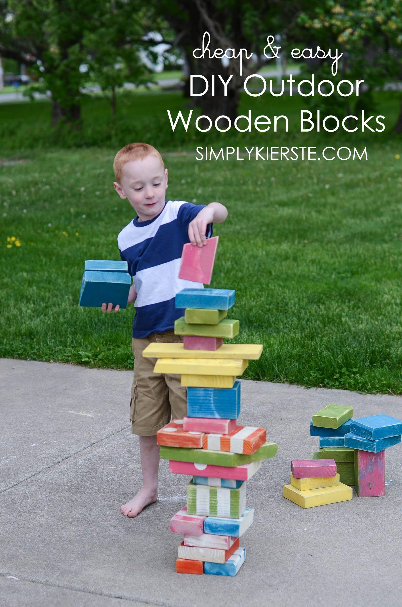 Cheap & easy DIY outdoor wooden blocks