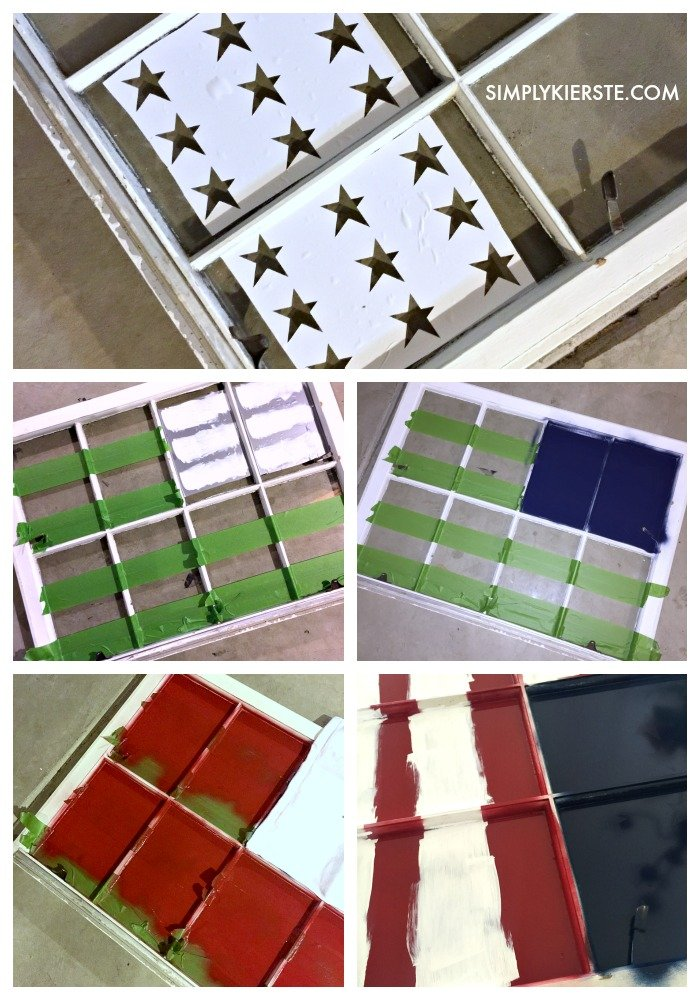 Painted Flag Window | simplykierste.com