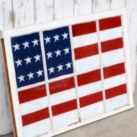 Painted Flag Window