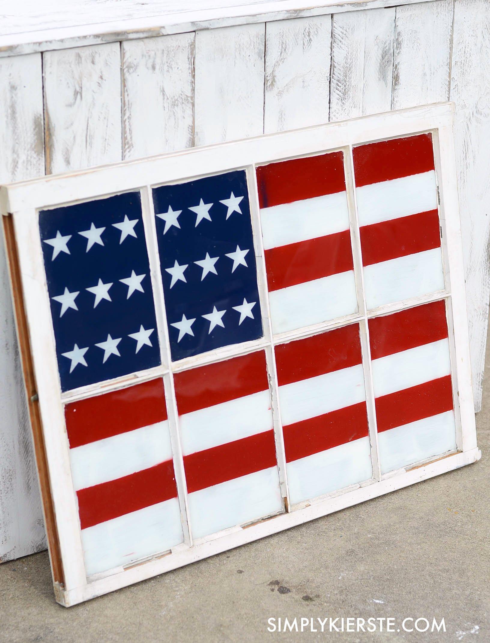 Easy Painted Flag Window