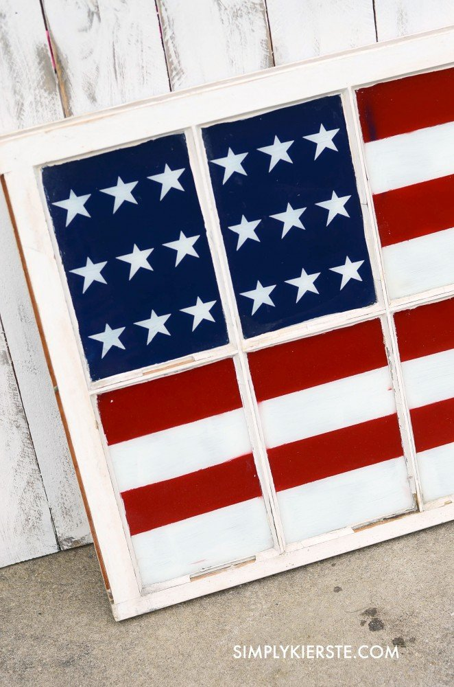 Painted Flag Window | oldsaltfarm.com