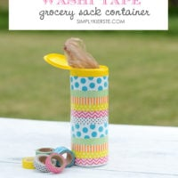 Washi tape grocery container | oldsaltfarm.com