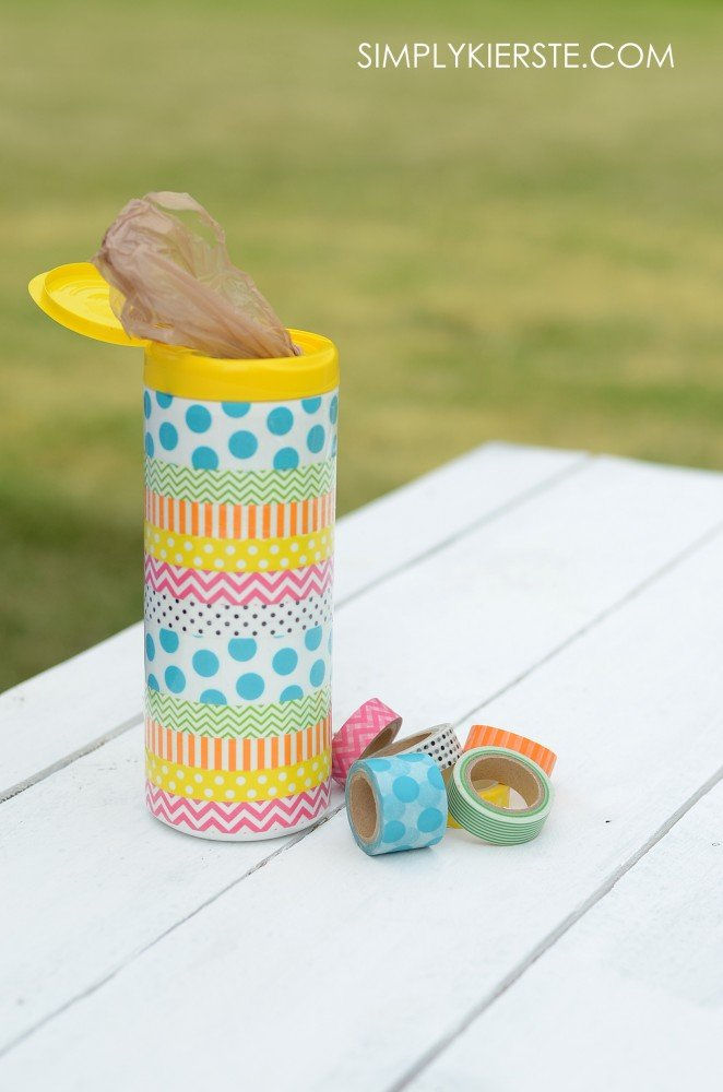 Washi tape grocery container | simplykierste.com