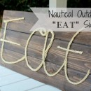 "Outdoor Nautical ""Eat"" Sign 