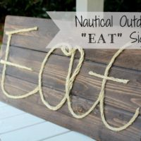"Nautical outdoor ""eat"" sign"