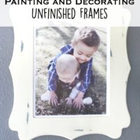 5 tips for painting & decorating unfinished frames