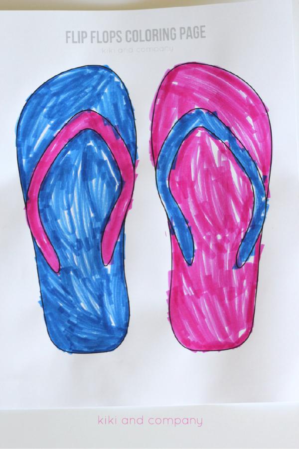 Free flip flops coloring page | simplykierste.com