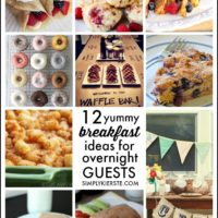 Company's coming!  Breakfast ideas for overnight guests