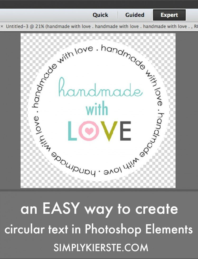 An easy way to create circular text in Photoshop Elements | simplykierste.com