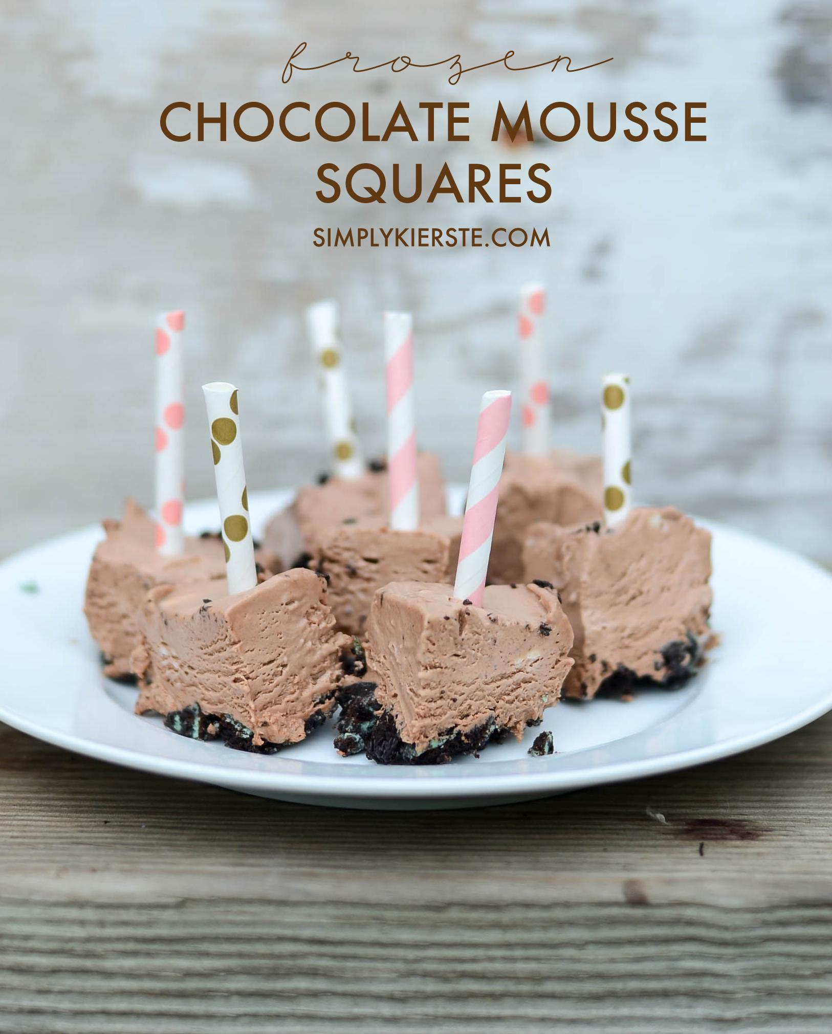 Frozen chocolate mousse bites | simplykierste.com
