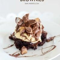 Peanut Butter Cup Brownies | oldsaltfarm.com