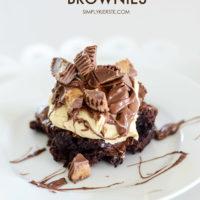 Peanut Butter Cup Brownies | simplykierste.com