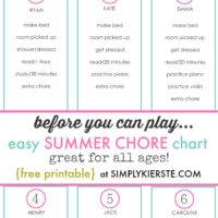 "Save your sanity with a ""before you can play"" chore list!"