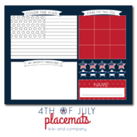 Keep kids busy with these adorable 4th of July placemats!