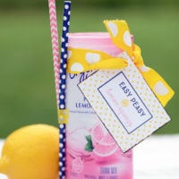 "Easy peasy lemon squeezy:  ""you can do it"" gift tag"
